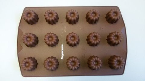 Силиконовая форма для мини суфле коричневая