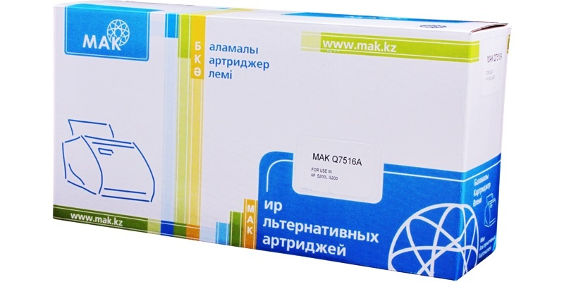 MAK №16A Q7516A CARTRIDGE-309/509/109/709, черный, для HP, до 12000 стр.