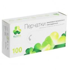 Перчатки виниловые неопудренные размер (М ) 100 шт