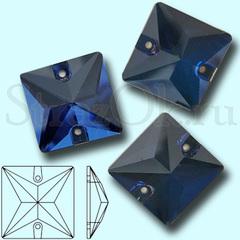 Купите стразы квадратные Square Montana синие для бального платья оптом
