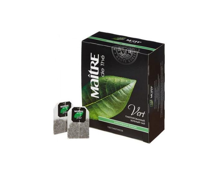 Чай зеленый в пакетиках Maitre Классический, 100 пак./уп (Мэтр)