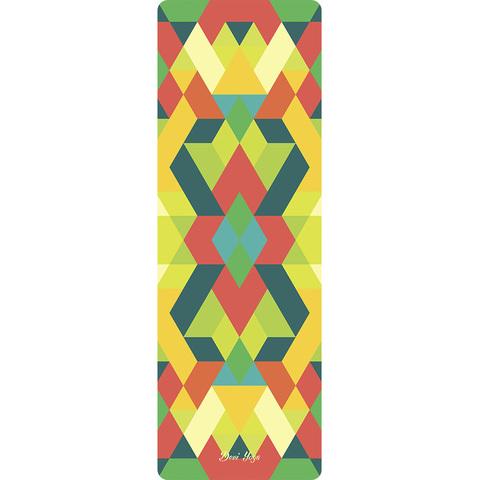 Коврик для йоги Геометрия 183*61*0,35 см из микрофибры и каучука