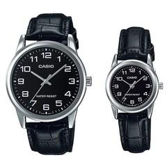 Парные часы Casio Standard: MTP-V001L-1B и LTP-V001L-1B