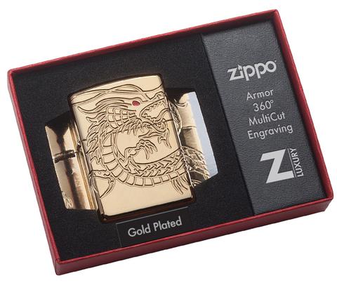Зажигалка коллекционная ZIPPO Armor™ High Polish Gold Plate ZP-29265
