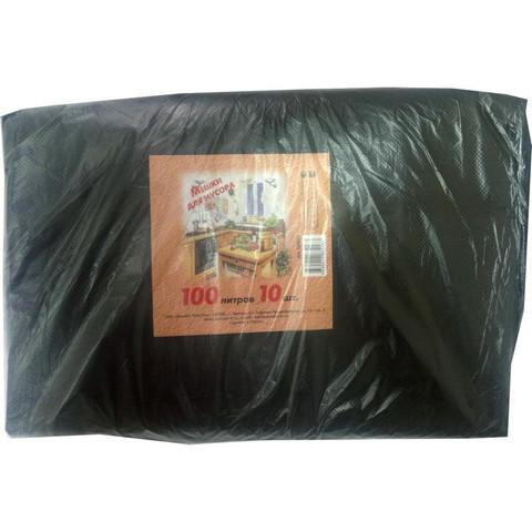 Мешки для мусора ПВД 100л 70х110см 50мкм черные 10шт/уп