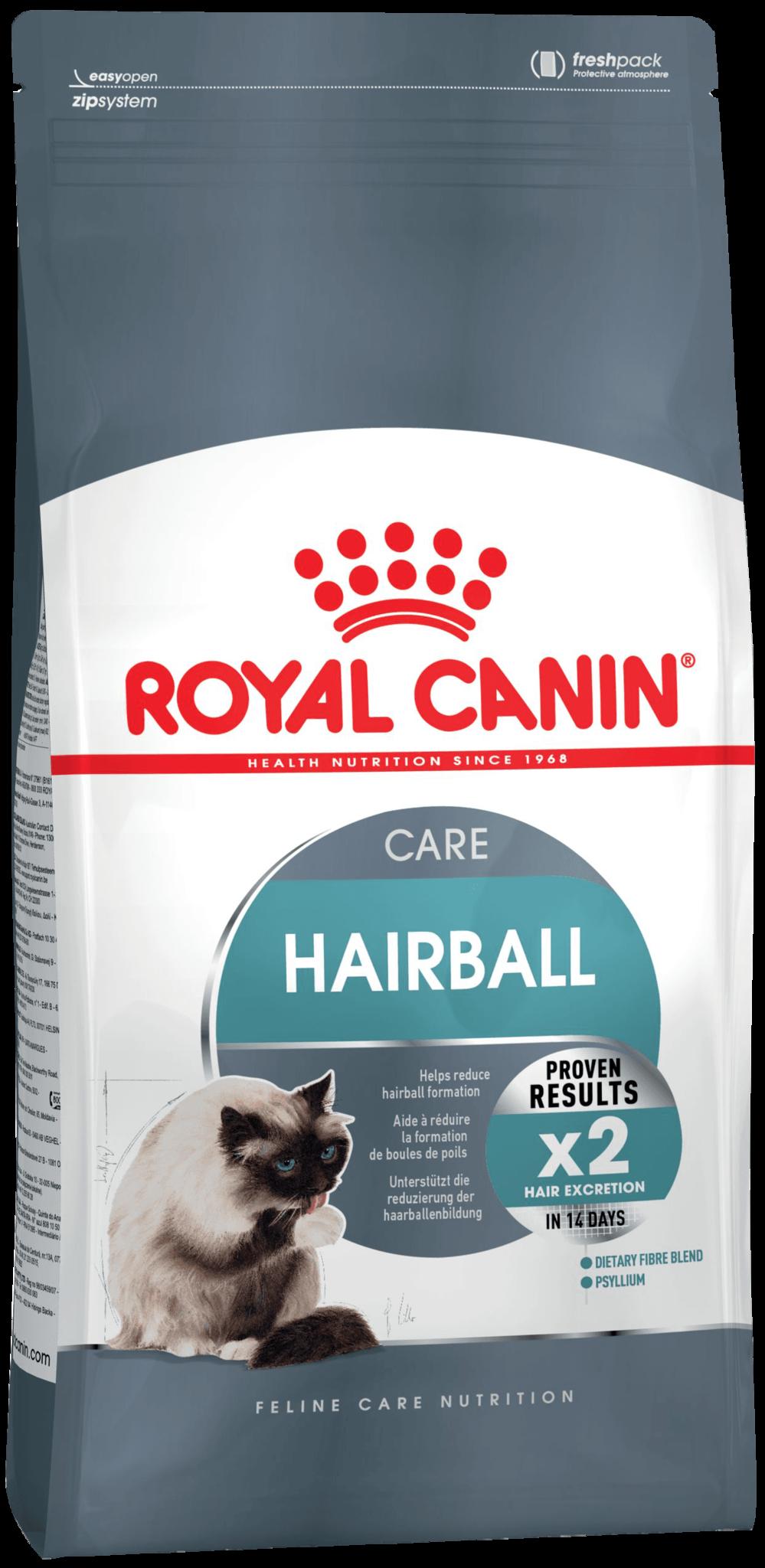 Корм и лакомства Корм для кошек, Royal Canin Hairball Care, в целях профилактики образования волосяных комочков в желудочно-кишечном тракте f_hairball-care.png