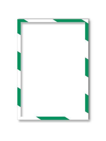 Магнитная  рамка А4, бело-зеленая, 5шт/уп