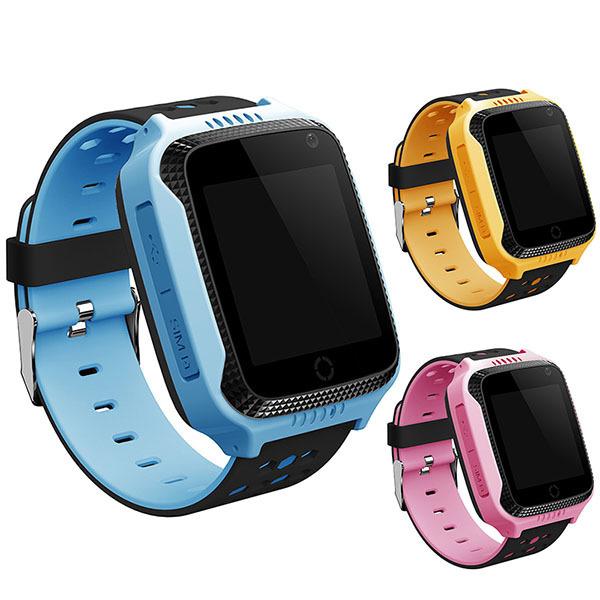 Детские GPS часы Smart Baby Watch G100 (Q65 / T7 / GW500S) с фонариком (желтый / с SIM картой МТС-Маяк)