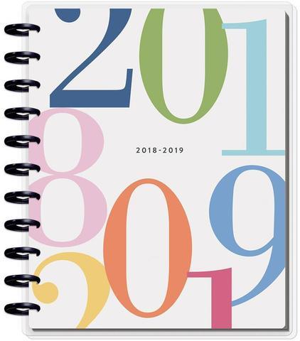 Ежедневник 2018 - 2019 BIG Happy Planner® - Colorblock Type / HORIZONTAL-  23х28.5см