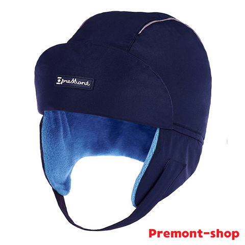 Premont шапка-ушанка WP92868 BLUE