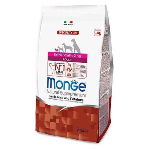 Monge Dog Speciality X-small корм для взрослых собак мини пород (ягненок с рисом и картофелем) 2,5кг