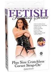 Женский страпон 19 см на трусах-корсете Fetish Fantasy Series (3,2 х 17,8 см)
