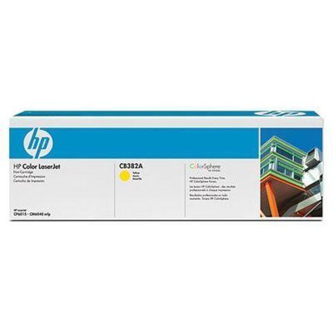 Картридж HP CB382A yellow - тонер-картридж для HP Color LaserJet CP6015, CM6030, CM6030f, CM6040, CM6040f (желтый, 21000 стр.)