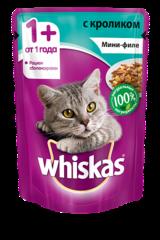 Whiskas мини-филе с кроликом 85 гр