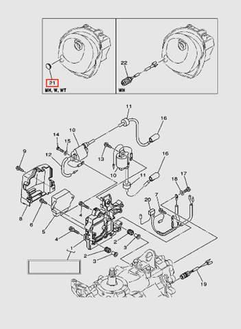 Заглушка для лодочного мотора T40 Sea-PRO (9-21)