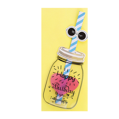 Открытка Happy Birthday Bottle Yellow
