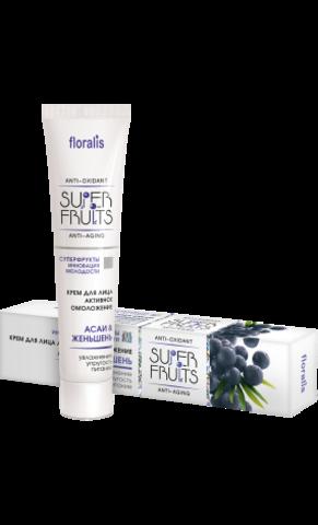 Floralis Superfruits Крем для лица активное омоложение «Ягоды асаи и Женьшень» 40г