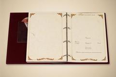 Родословная книга Изысканная с золоченым деревом (эко-кожа)