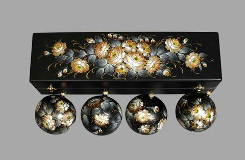 Набор из 4 елочных шаров в шкатулке SET04D-667785811
