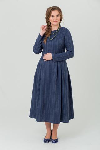 Платье льняное Черника тёплое купить