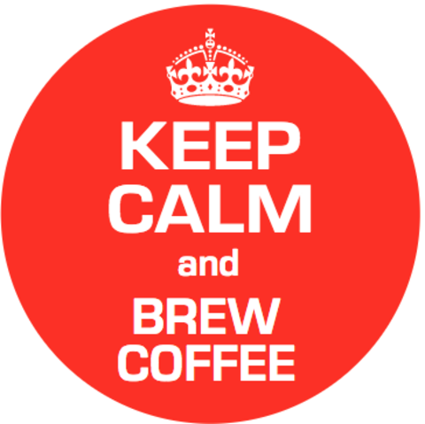 Значок Keep calm brew coffee