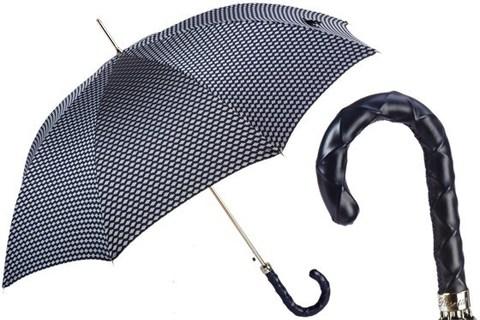 Зонт-трость Umbrella with Twisted Leather Handle, Италия
