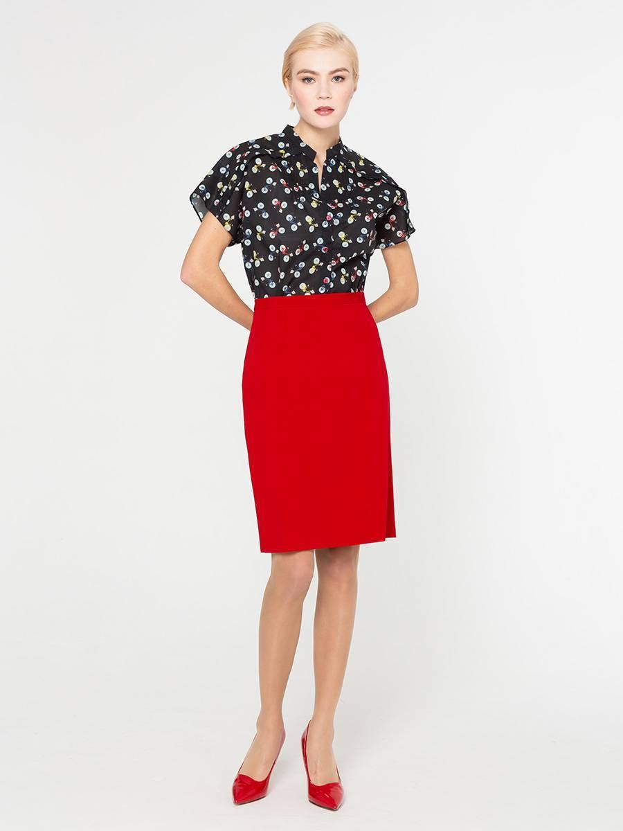 Юбка Б087-345 - Прямая классическая юбка прекрасно сочетается с любым верхом, подойдет как для офиса так и для повседневной жизни.