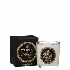 """Ароматическая свеча Voluspa """"Абрикос и лилия"""" в маленьком подсвечнике"""