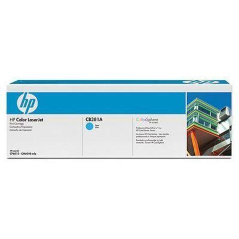 Картридж HP CB381A cyan - тонер-картридж для HP Color LaserJet CP6015, CM6030, CM6030f, CM6040, CM6040f (голубой, 21000 стр.)