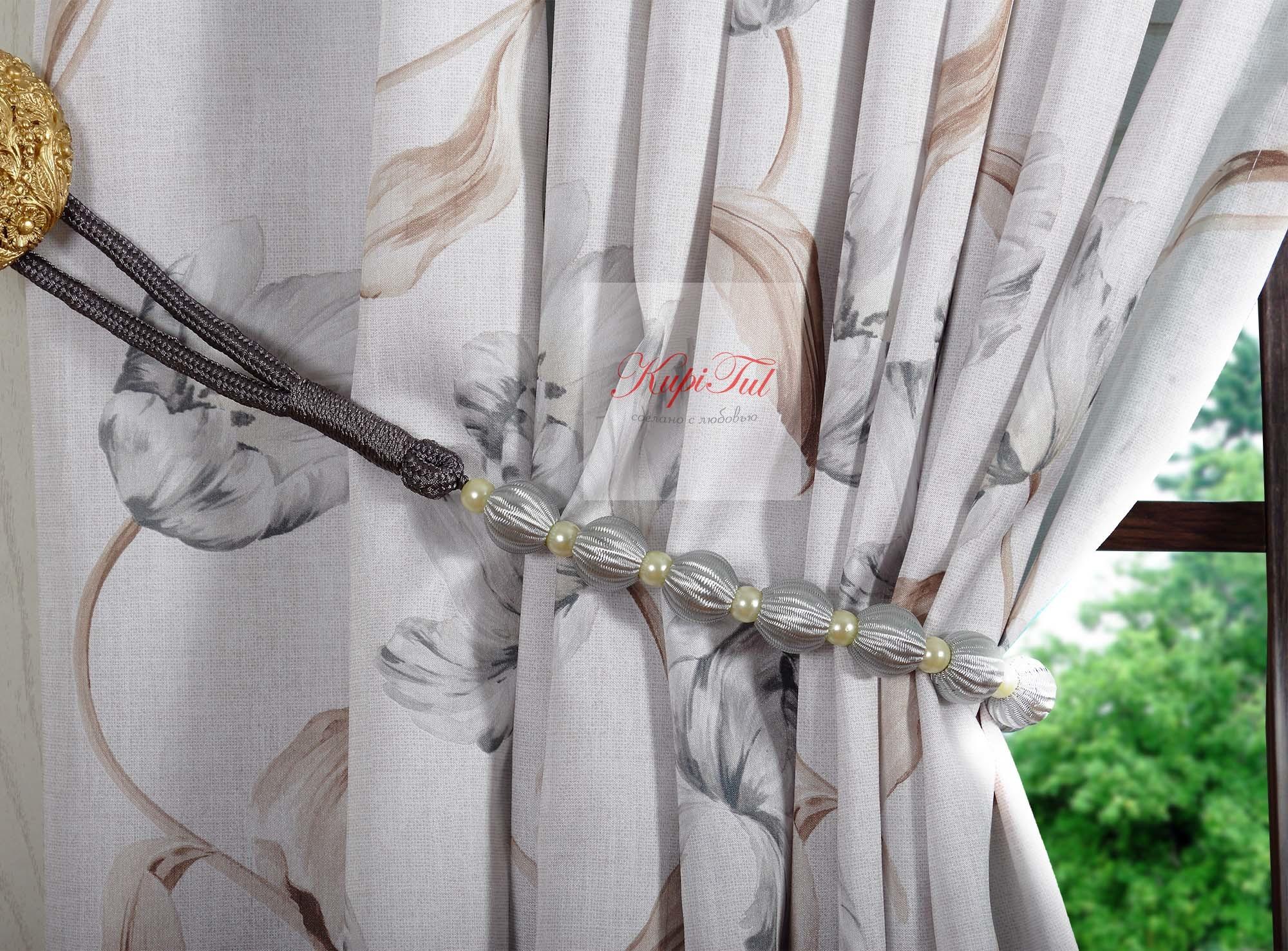 Фостер. Легкие шторы с принтом
