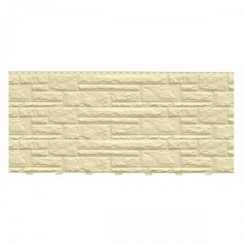 Фасадные панели (Цокольный Сайдинг) Доломит NEW Слоновая Кость