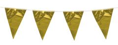 Гирлянда-вымпел фольга Золото 10 м.