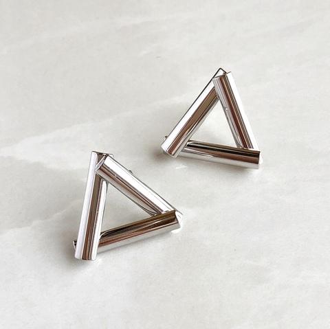 Серьги правильные треугольники, родирование