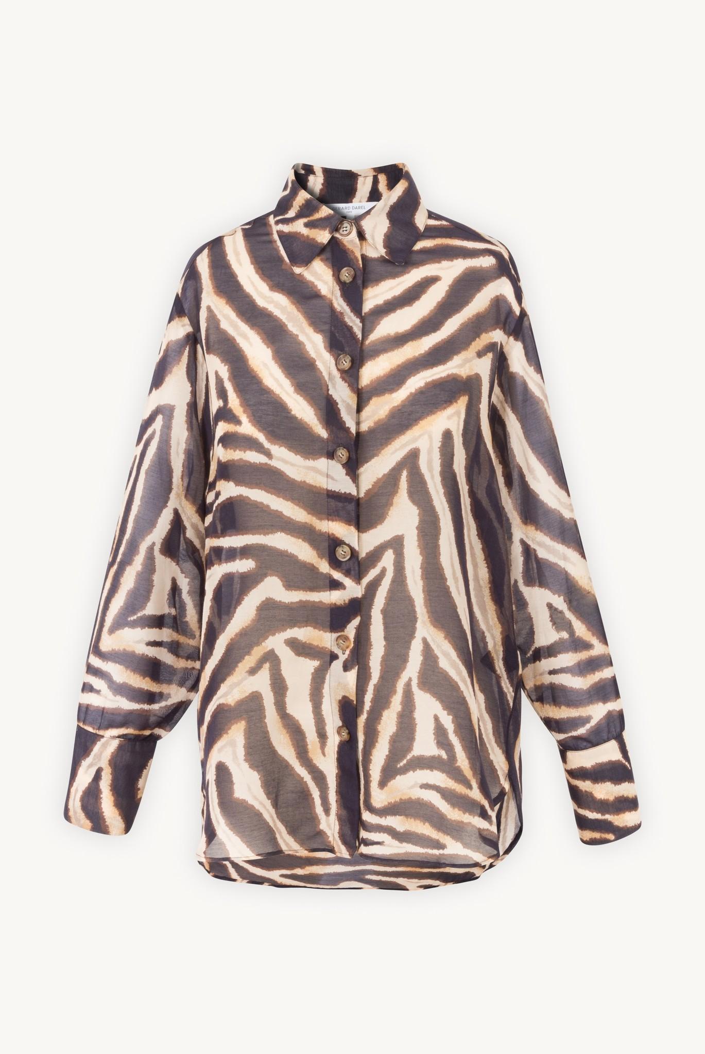 NAIS - Рубашка из хлопка и шелка с животным принтом