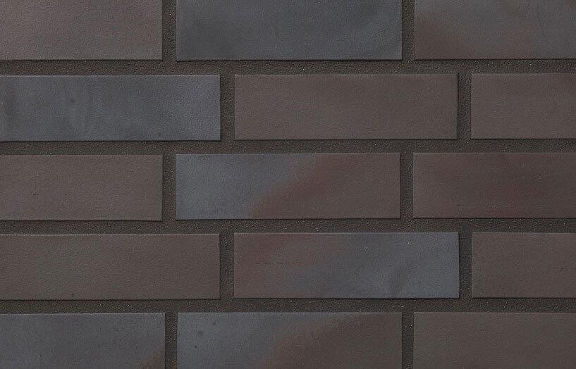 Stroeher, облицовочная клинкерная плитка, цвет 336 metallic black , серия Keravette, unglasiert, неглазурованная, гладкая, 240x71x11
