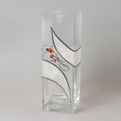 Ваза декоративная 30 см янтарь 118/080