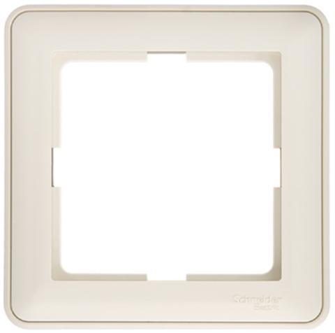 Рамка на 1 пост. Цвет Слоновая кость. Schneider Electric Wessen 59. KD-1-28