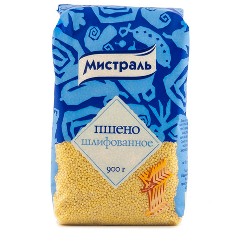 """Пшено """"Мистраль"""" 900 г"""
