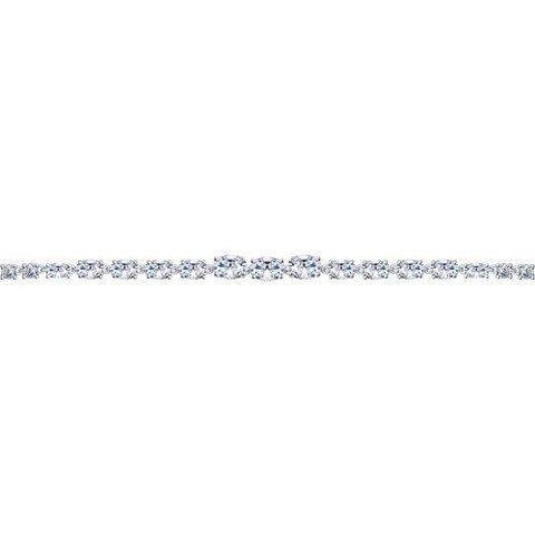 Браслет из серебра с дорожкой из фианитов арт.94050357