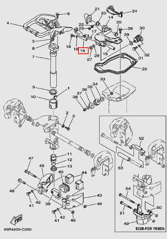 Кронштейн рычага для лодочного мотора Т30 Sea-PRO (15-16)