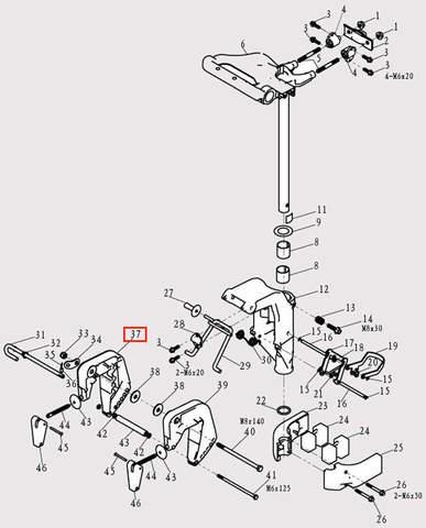Струбцина правая для лодочного мотора F9.8 Sea-PRO (13-37)