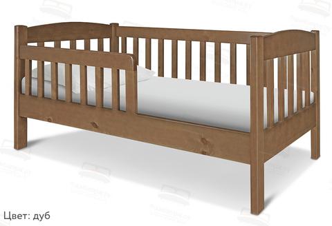 Детская кровать с бортиками и основанием Шале