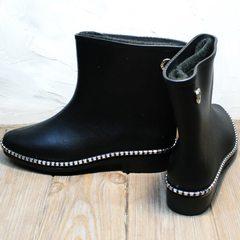 Резиновые сапоги ботинки женские Hello Rain Story 1019 Black