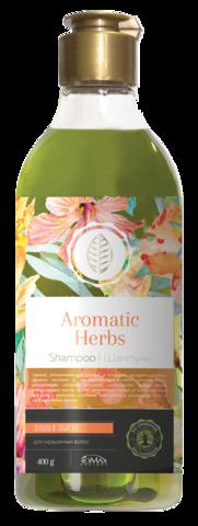 Romax Aromatic Herbs Шампунь Вербена и Гибискус для окрашенных волос 400г