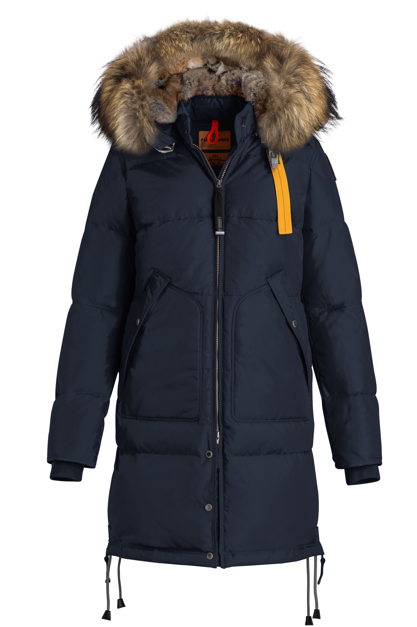 Пуховик Parajumpers Long Bear Navy (Тёмно-синий)