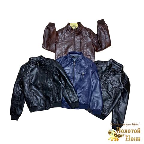 Куртка мальчику экокожа (7-12) 190202-BH480