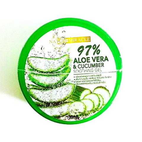 Успокаивающий гель «Aloe Vera & Cucumber» Гель алоэ вера 97% и огурец Nature Miracle, 100 мл