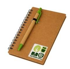 Блокнот, Lejoys, Recycled, на спирали, в комплекте с ручкой, А5, 105*155 мм