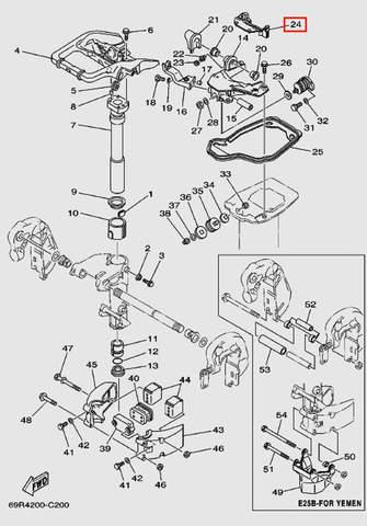 Амортизатор для лодочного мотора Т30 Sea-PRO (15-24)