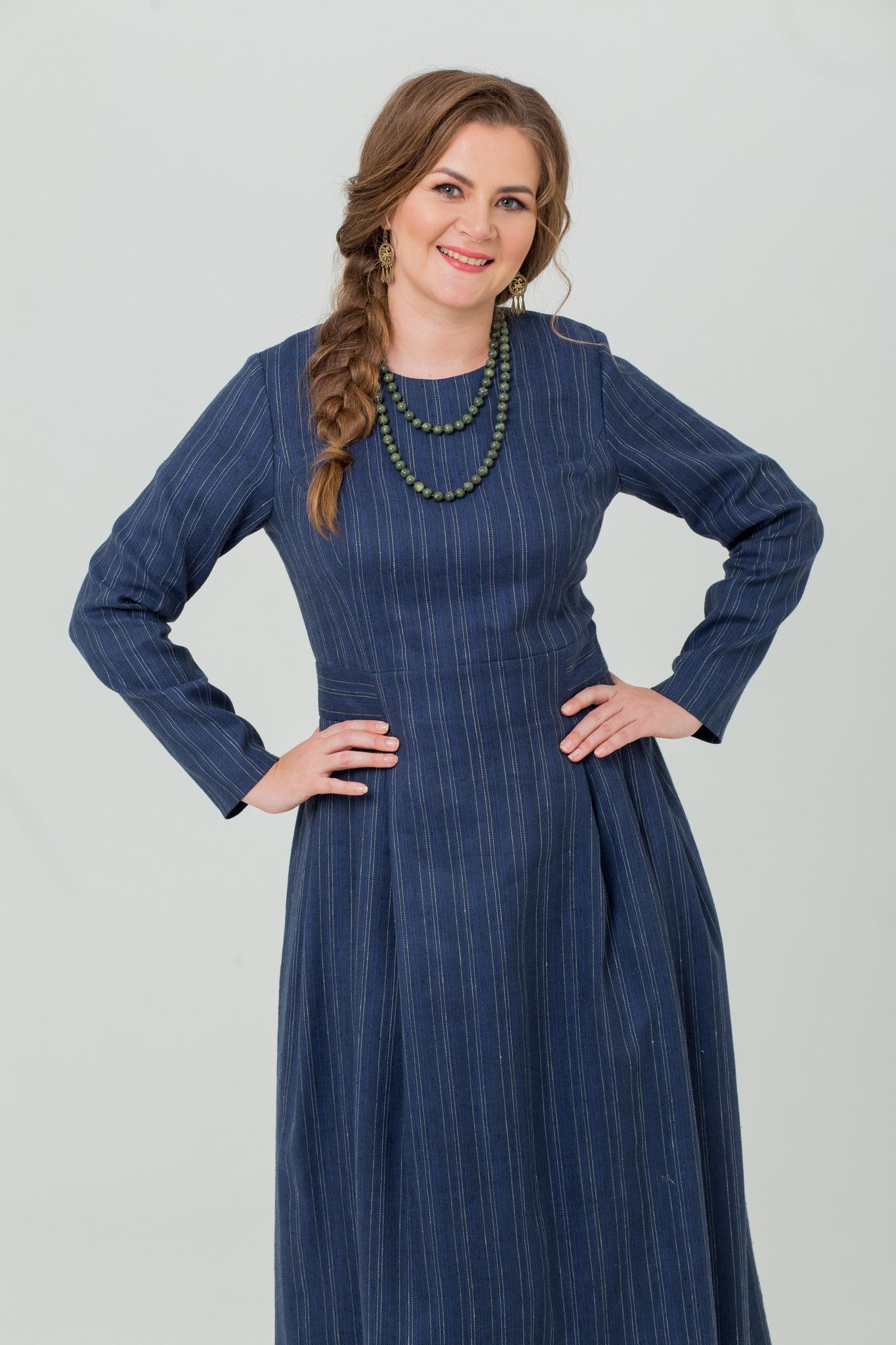 Шерстяное платье миди Черника от Иванки